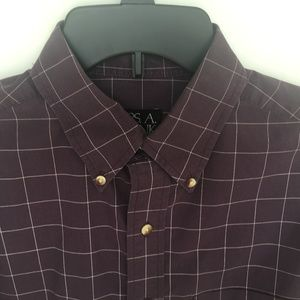 Jos A Banks Travelers Collection Button Down M